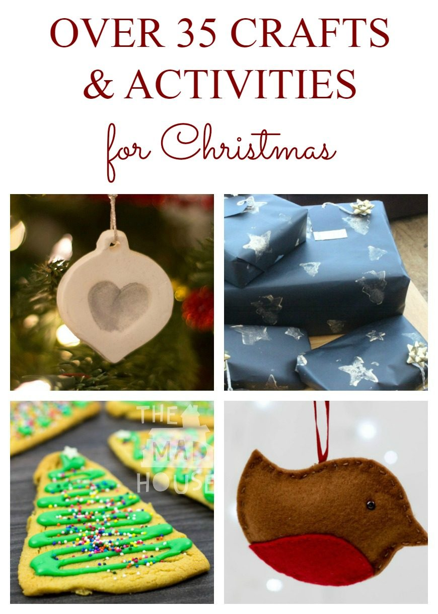 Over 35 Christmas Decorations, Crafts and Gifts Kids Can Make. Celebrate the festive season with these fantastic crafts and activities for the holidays.
