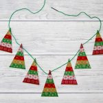Simple Washi Tape Christmas Trees Garland