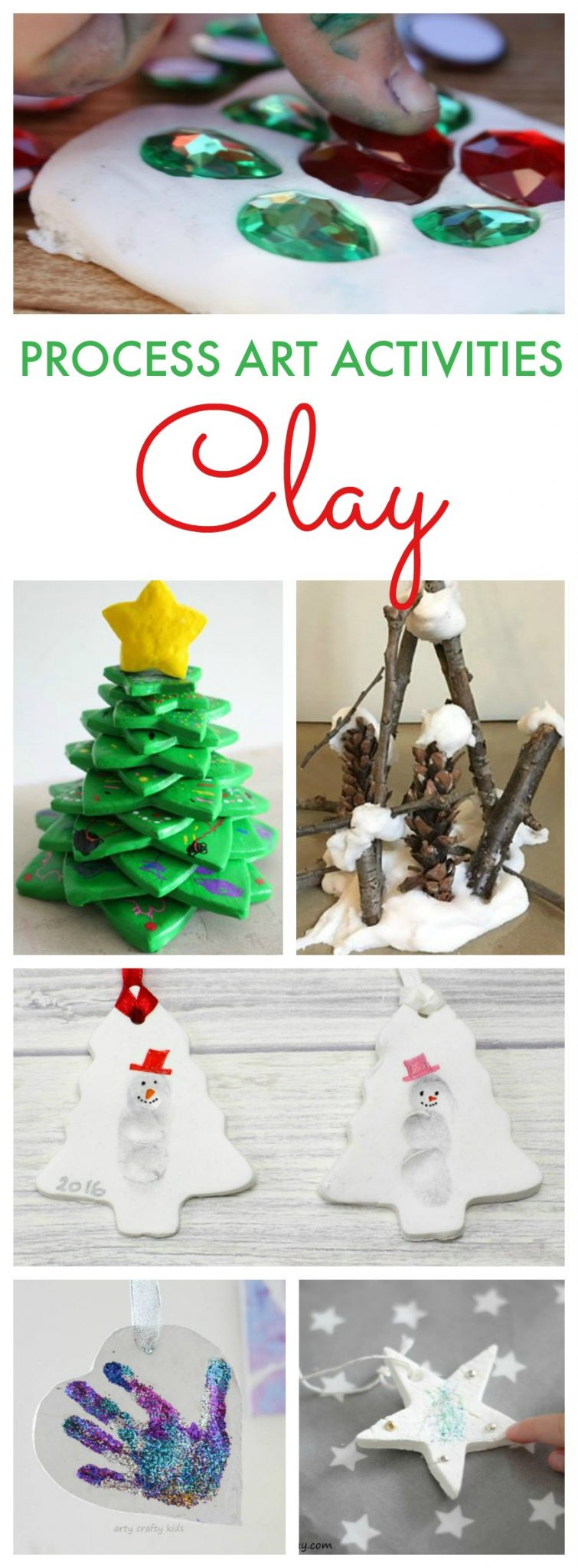 A fantastic selection of clay process art activities for kids of all ages. Focus on the process not the product with these fantastic ideas.
