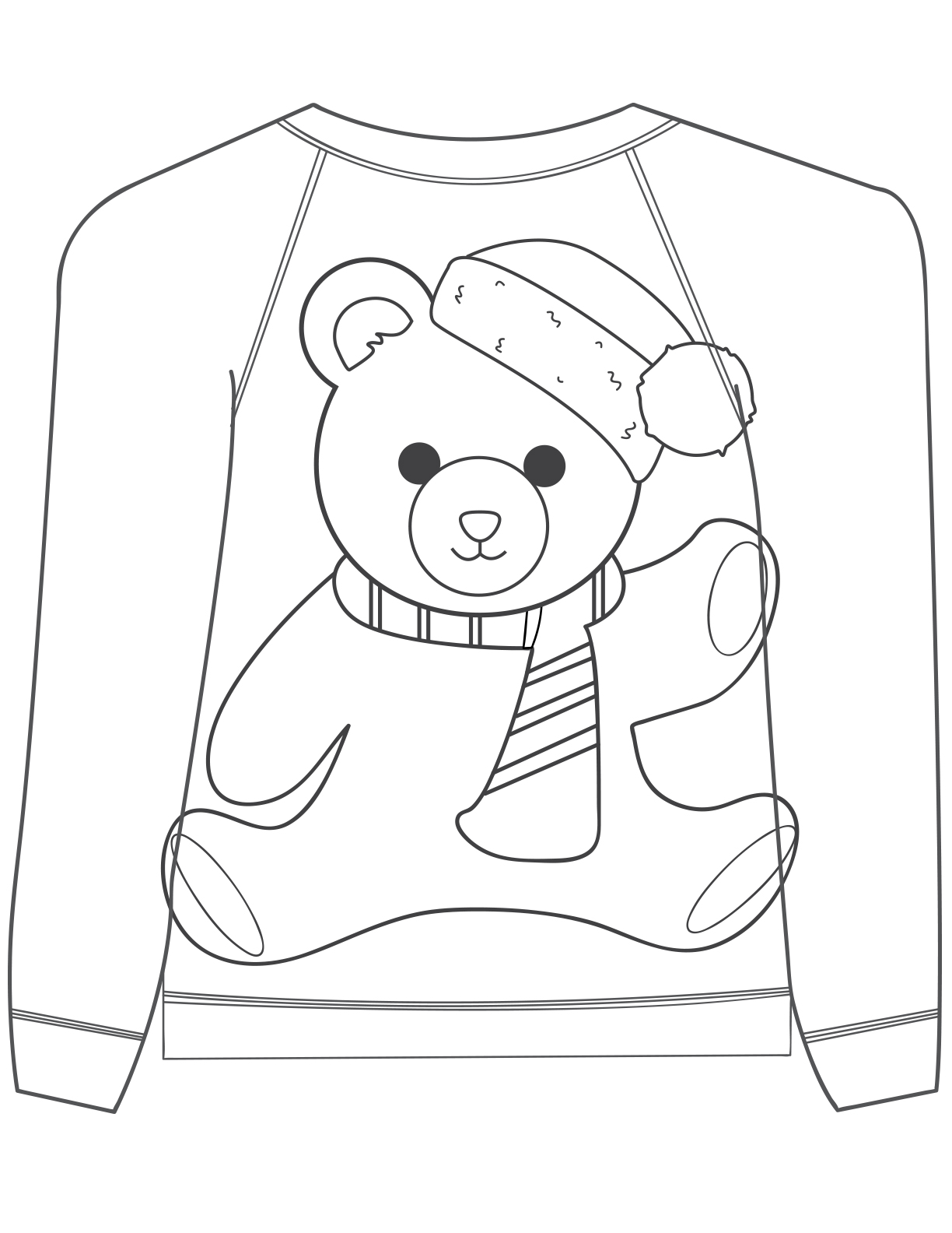 Line Drawing Jumper : Ugly christmas sweater colouring pages mum in the