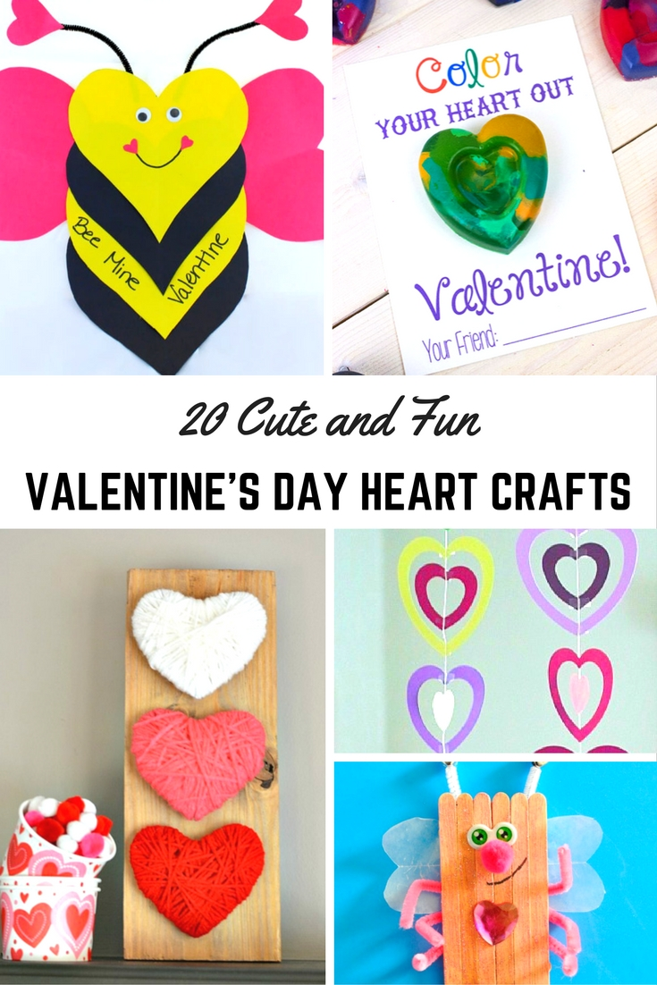 20 Cute and Fun Valentine's Day Heart Crafts - Mum In The ...