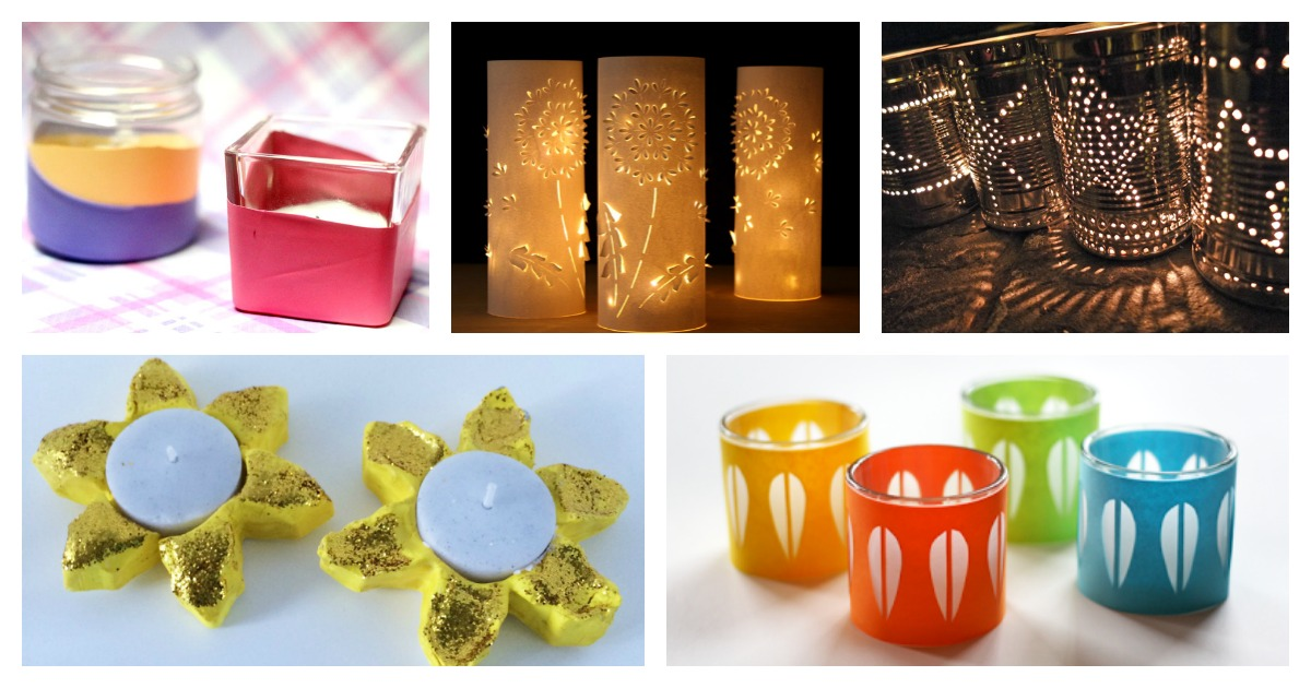 20 Delightful DIY Candle Holders and Luminaries - Mum In The