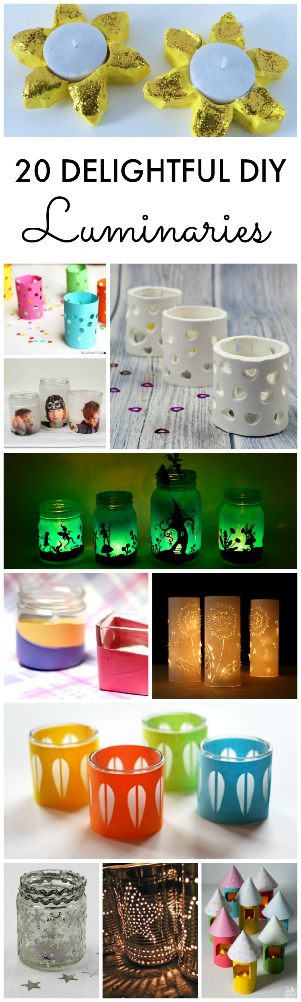 20 Delightful DIY Candle Holders and Luminaries. Brighten up even the darkest night with these beautiful DIY crafts for all year round.