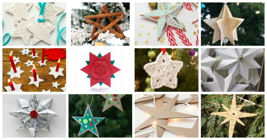 20 Simple & Affordable DIY Star Christmas Ornaments are easy to make, so children can help out and you can get the whole family involved. Fantastic festive crafts for all.