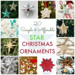 20 Simple & Affordable DIY Star Christmas Ornaments