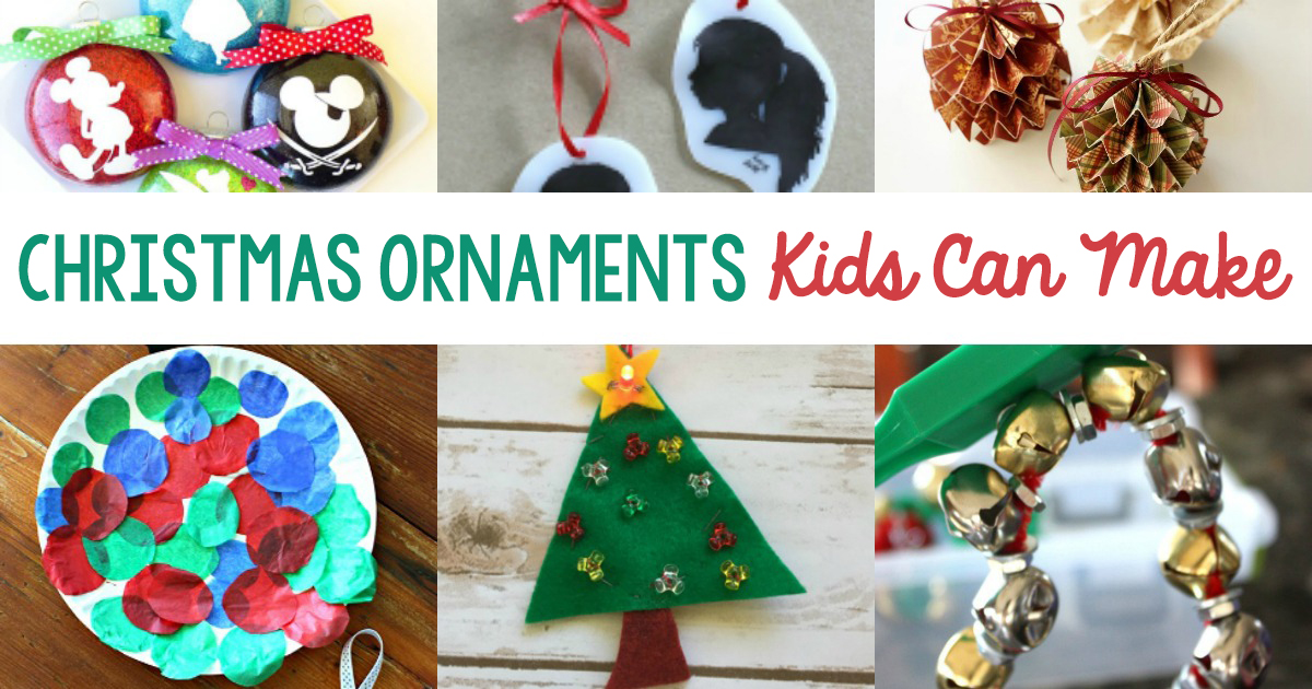 kid made christmas ornaments a selection of diy christmas ornaments that children can make for
