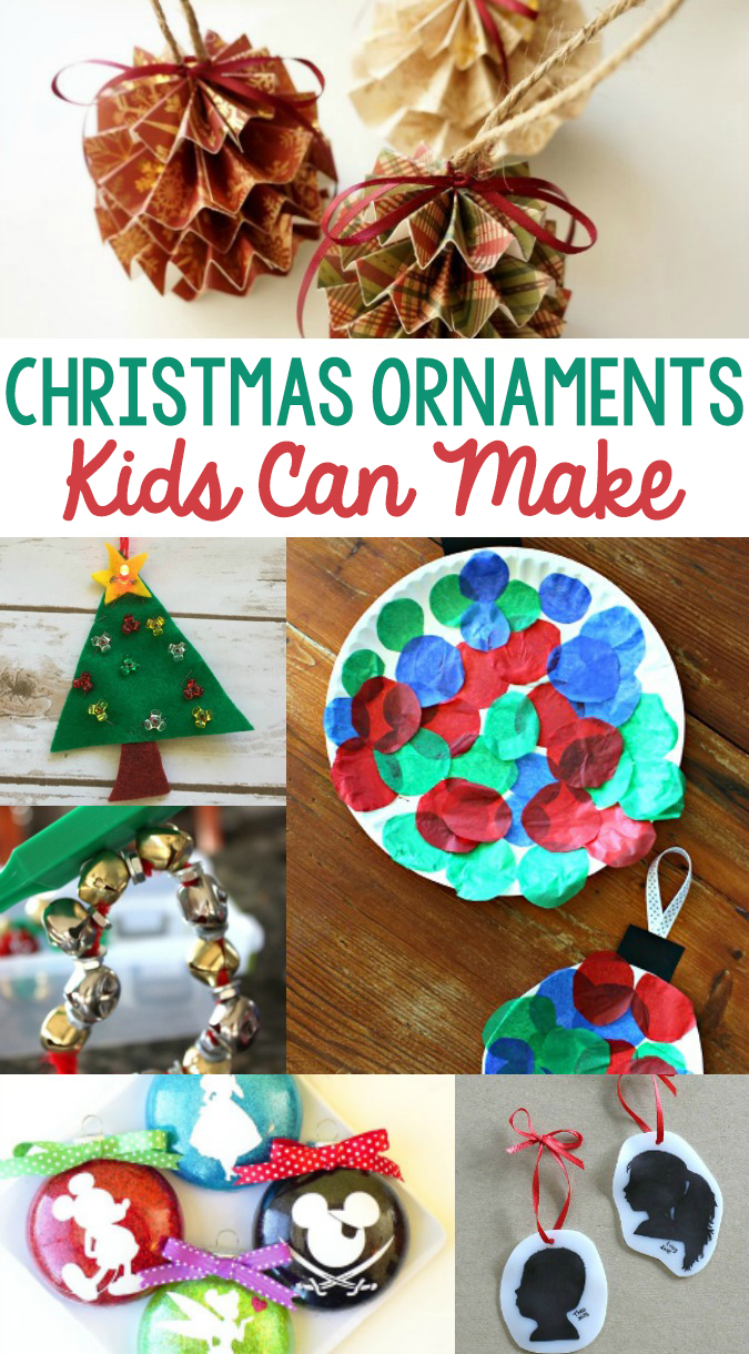Kid Made Christmas Ornaments. a selection of DIY Christmas ornaments that children can make for all ages from your tiny tots to teenagers