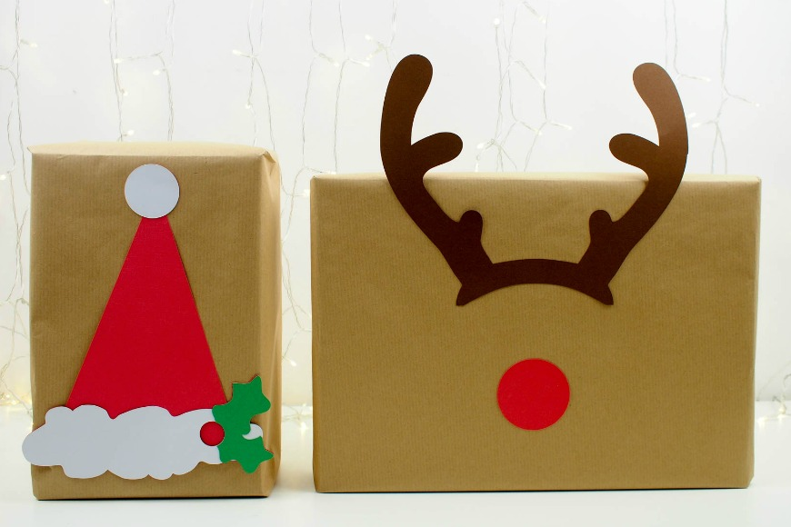 Christmas Wrapping Ideas for Brown Paper