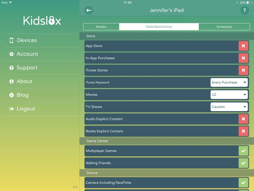 Kidslox Parental Control App - Initial Thoughts