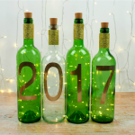 Simple New Year Craft –  DIY Wine Bottle Lights