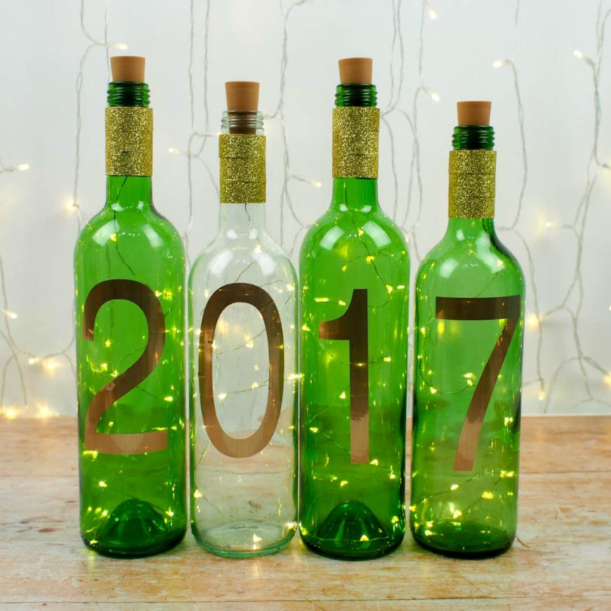 wine bottle lighting. Simple New Year Craft - DIY Wine Bottle Lights Lighting