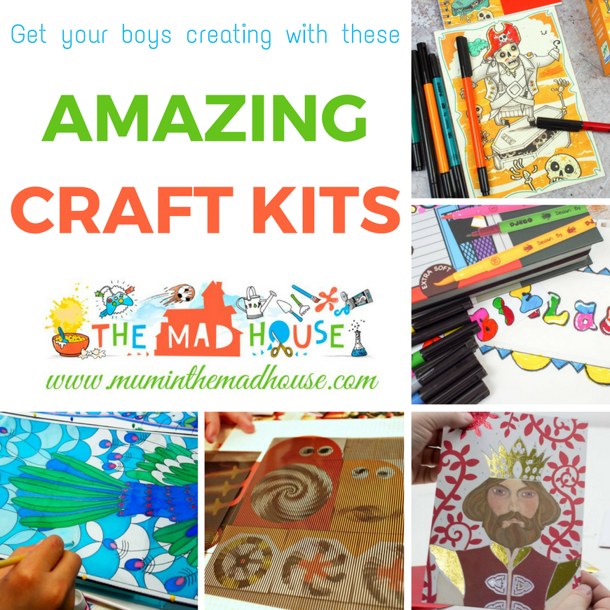 Craft kits are a great way of getting kids creative. This is a super selection of great craft kits for boys to get them engaged in arts and crafts.