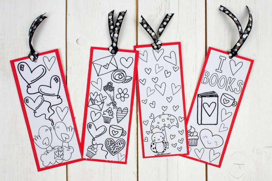 Love Books Free Colouring Bookmarks 5