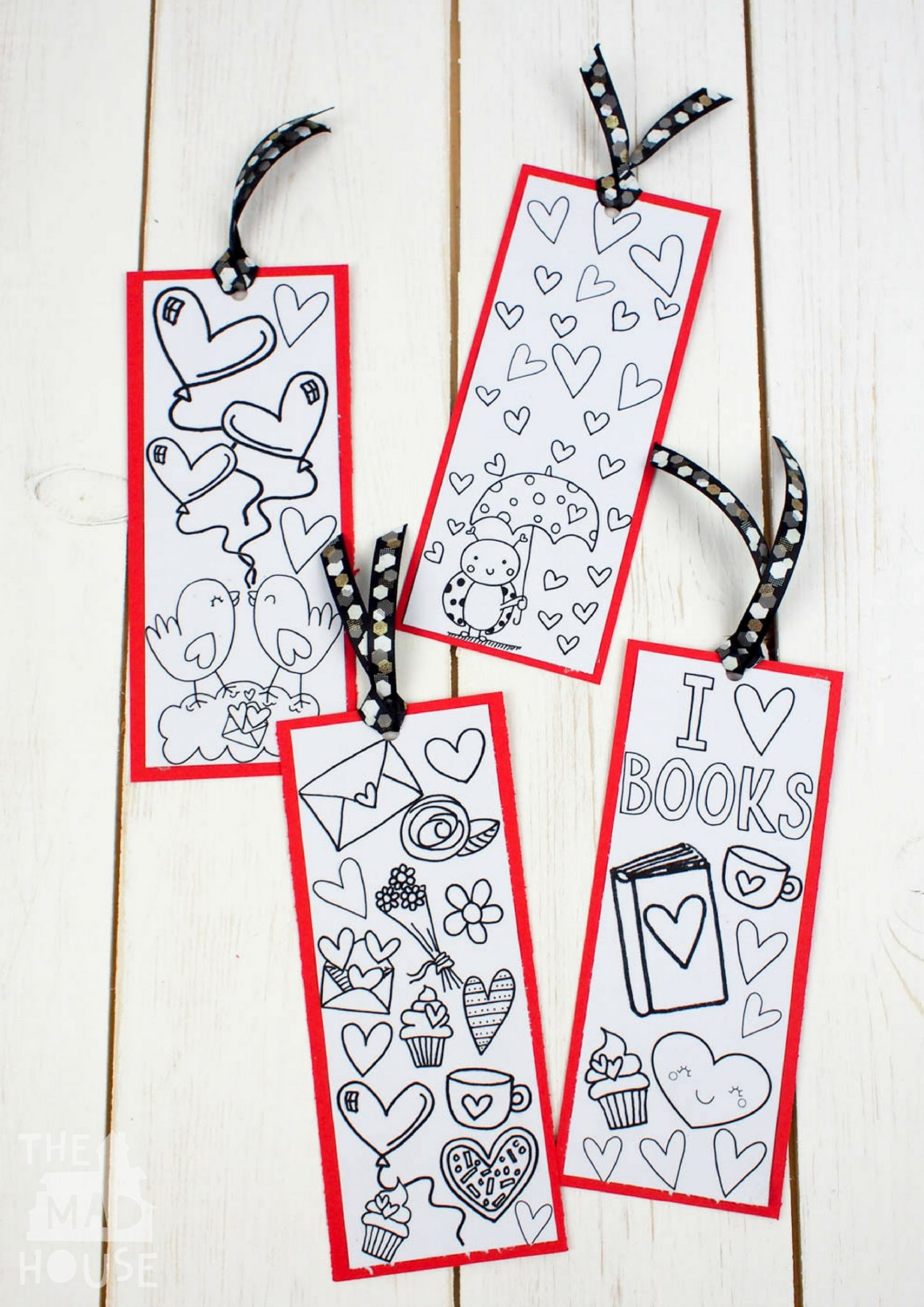 love books free colouring bookmarks - mum in the madhouse