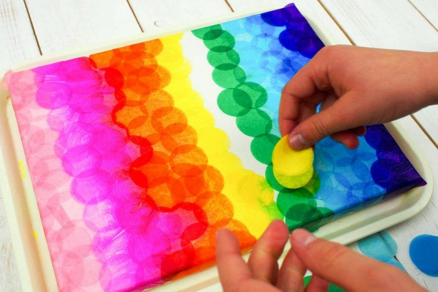 Bleeding Tissue Paper Canvas Art