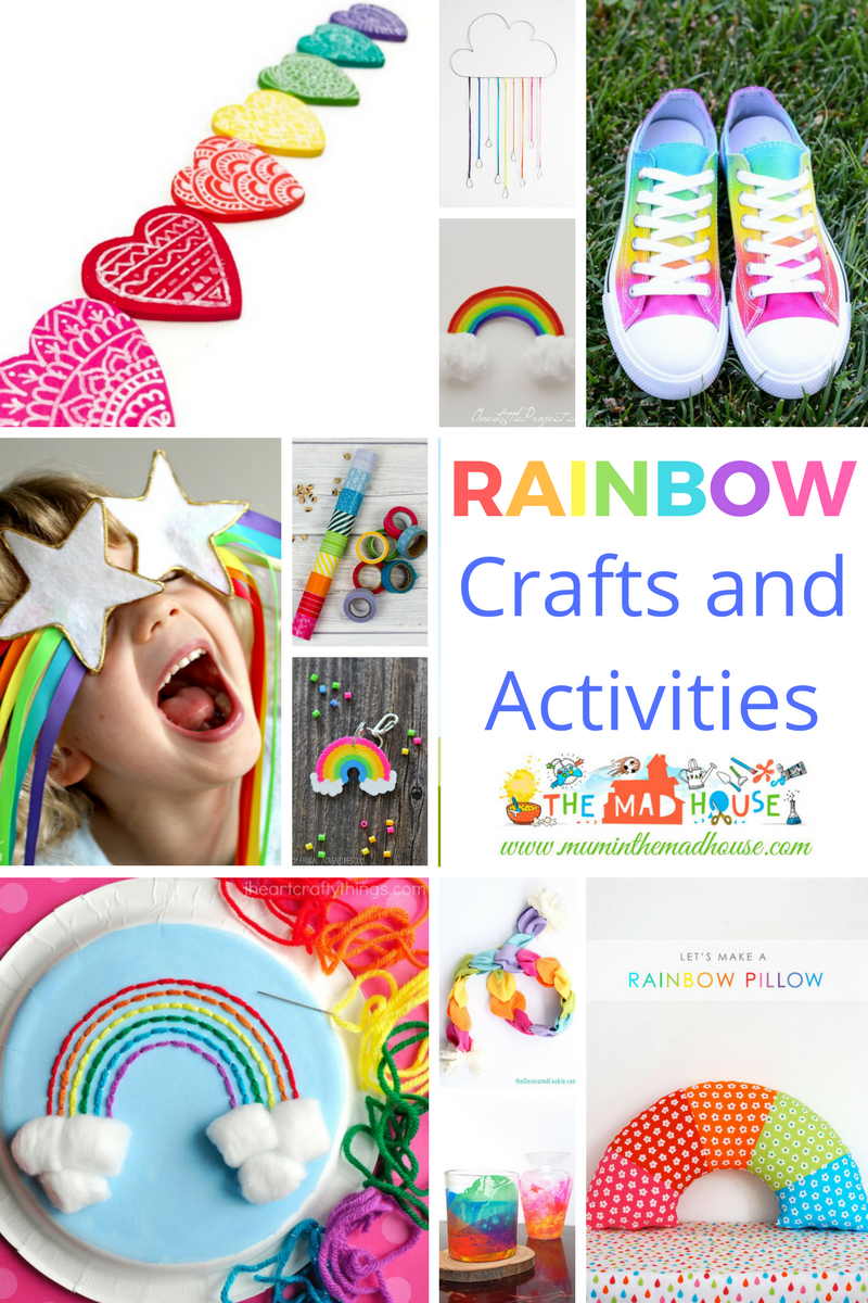 Rainbow Crafts and Activities for Kids - A stunning and colourful selection of rainbow crafts, art and activities for children of all ages.