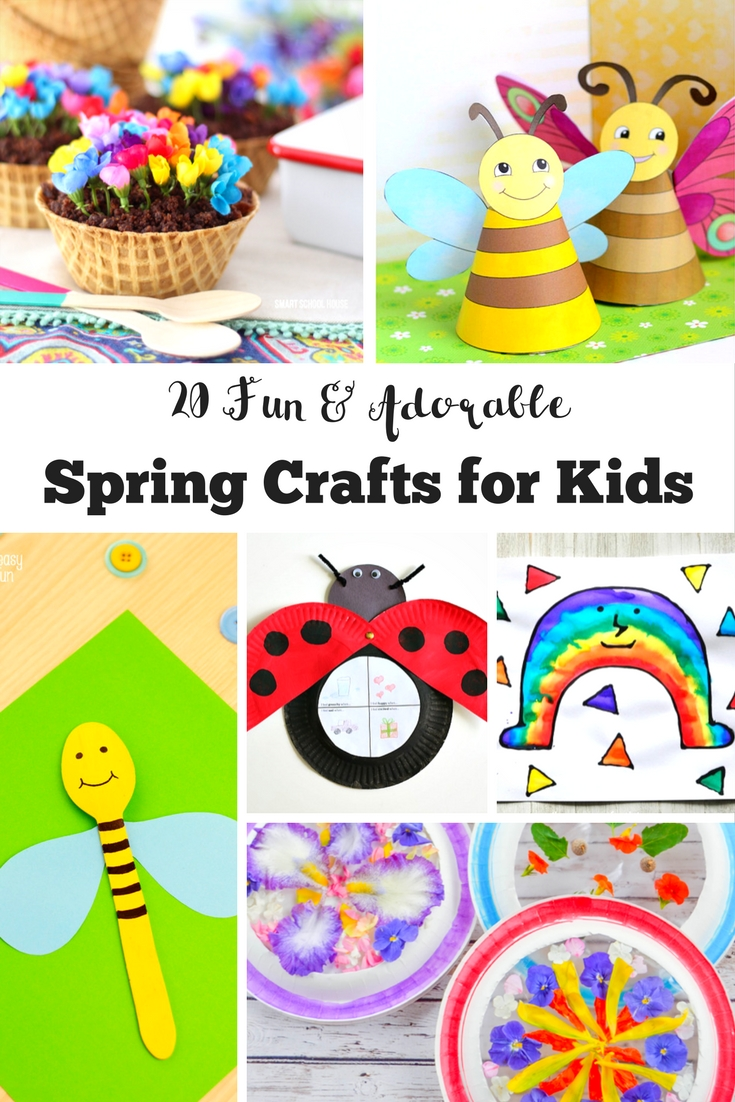 20 Fun and Adorable Spring Crafts for Kids.  Can you feel Spring in the air yet?  A fantastic selection of adorable spring crafts for kids. Celebrate the season with these fab DIY kids crafts and activities.