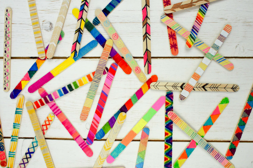 Ideal This craft stick wall hanging is a super fun collaborative art project or perfect for making