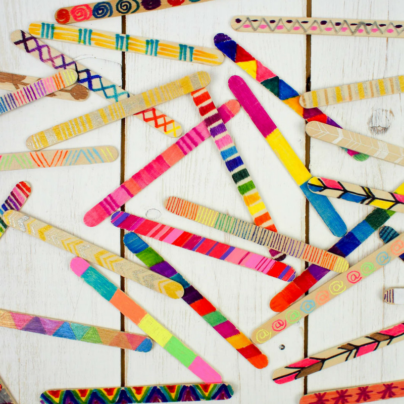 How To Make A Craft Stick Wall Hanging Mum In The Madhouse