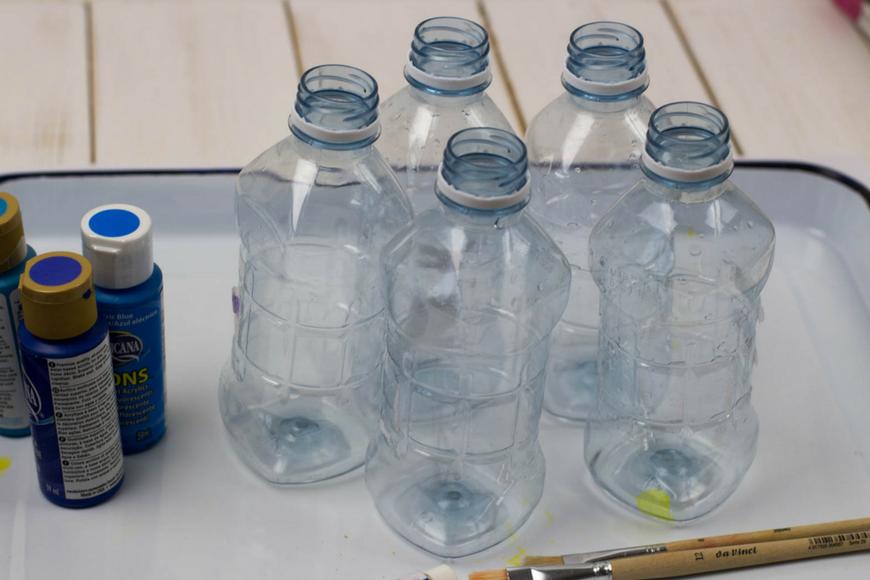 Plastic Bottle Wind Spiral Mobile