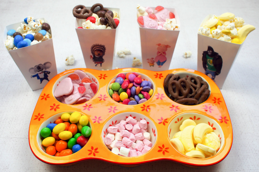 Have a SING Family Movie Night with our Free Printable Popcorn Boxes