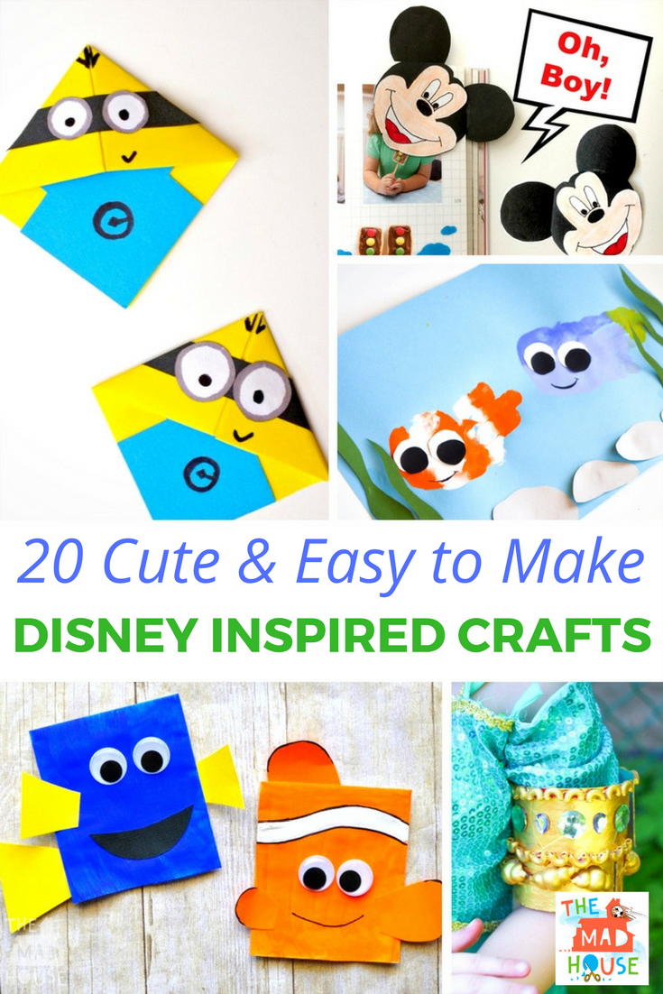 Grab your scissors, grab your glue! We have 20 fabulous and simple Disney inspired crafts for you and the kids to make including Nemo, Frozen and Cars