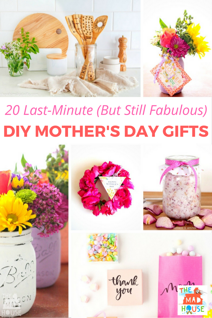 20 Last-Minute (But Still Fabulous) DIY Mother's Day Gift Ideas - These thoughtful last-minute Mother's Day gift ideas don't feel last-minute at all, in fact, these are fabulous gifts that any Mum would be delighted to receive