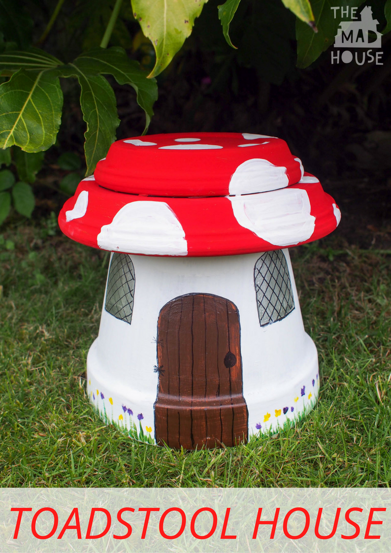 Make your own Fairy House from a Terracotta Pot. A step by step instruction to make a magical garden decoration for the fairies.