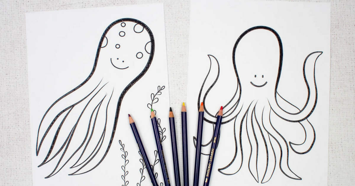 Octopus Colouring Pages for Kids - Mum In The Madhouse