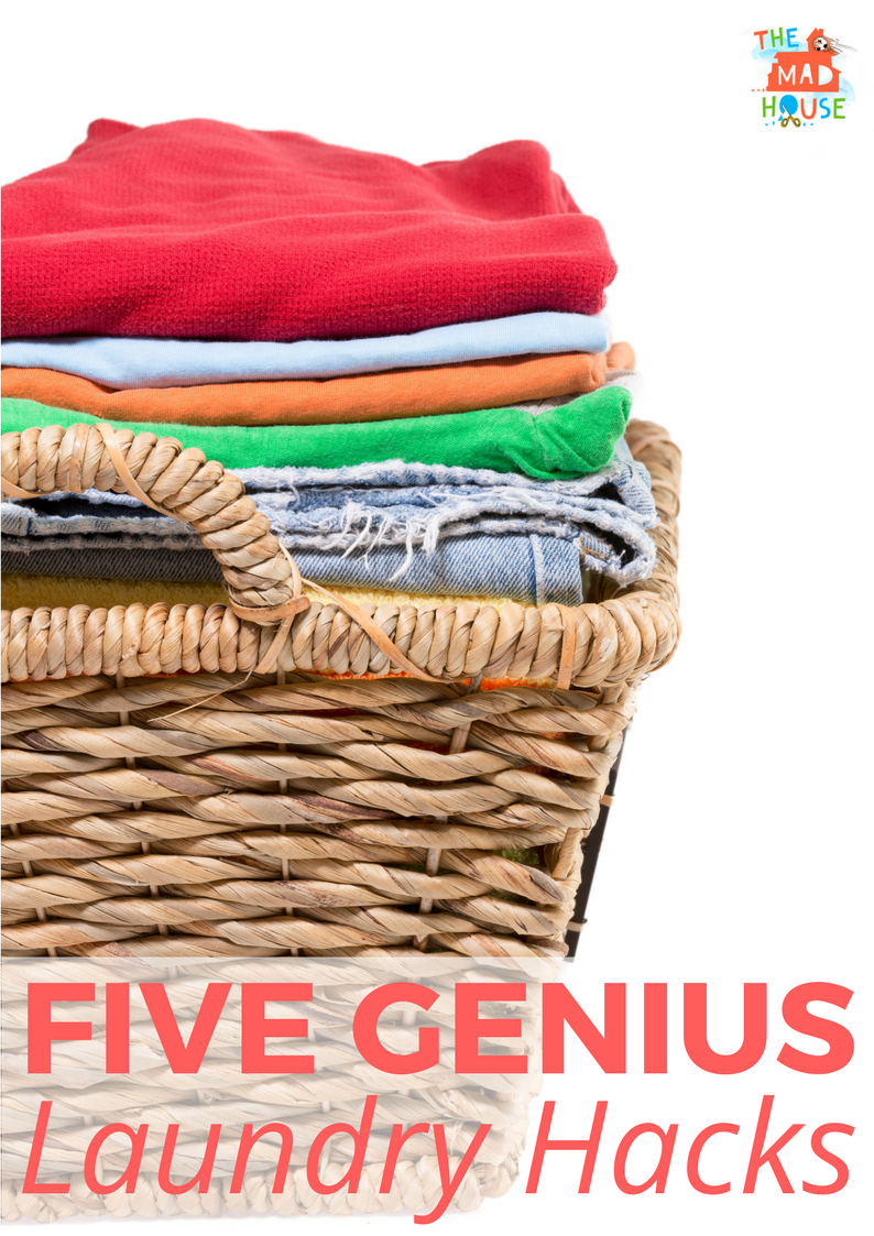 5 Genius laundry hacks that you will wish you had known sooner. Make laundry simpler with these fab tips and tricks from Mum in the Mad House