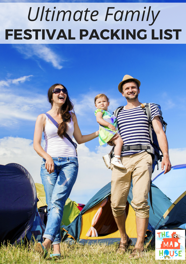 The Ultimate family packing list for festivals. Make sure that you have a fab time at festivals with this comprehensive festival packing checklist