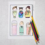 Free Kokeshi Colouring Sampler – Adult Colouring