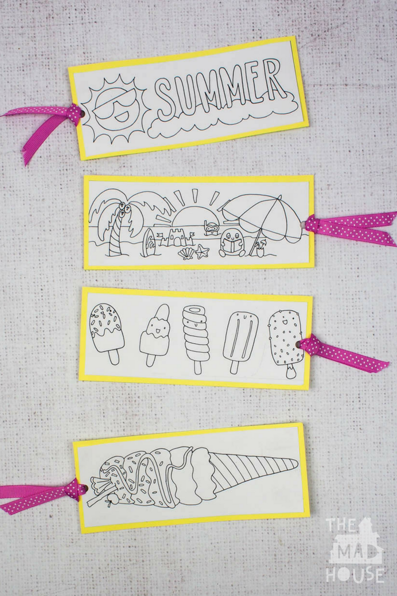 These free summer colouring bookmarks will really brighten up any summer reading that you do. They are perfect for any summer reading program.