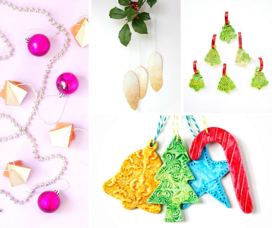 Festive and Beautiful Christmas Clay Crafts. Be inspired with this superb selection of festive clay ornaments and decorations. Perfect for DIY clay, salt dough, polymer or air drying clay.