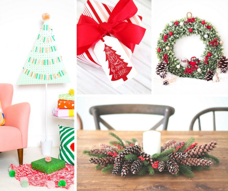 'Tis the season for some gorgeous DIY Christmas crafts including wreaths, centrepieces, tags and decorations.  From kid made cards to ornaments to homemade gift-wrapping and more, creative Christmas crafts to add a personal touch to this holiday season.