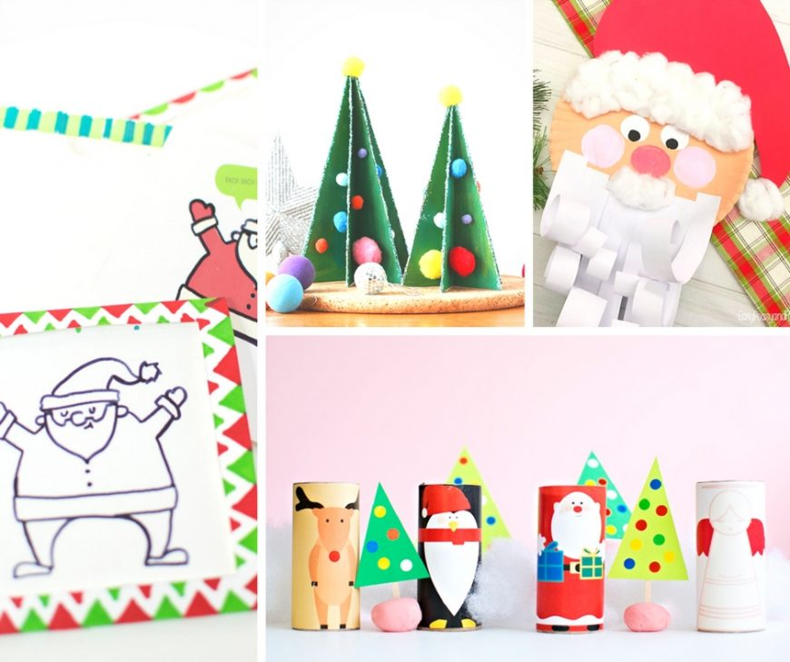 'Tis the season for some easy Christmas crafts for kids, including Christmas trees, Santa and his reindeer. Perfect for school fairs or advent.