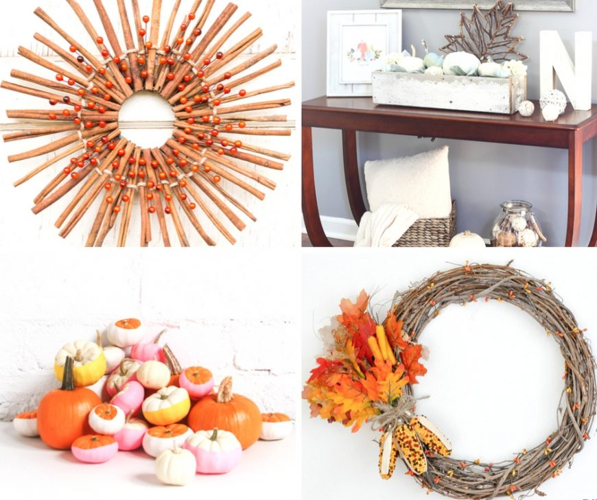 Celebrate Autumn with these Creative DIY Fall Craft Ideas. Bring the colours of the season into your home with these fab homemade decorations and makes.