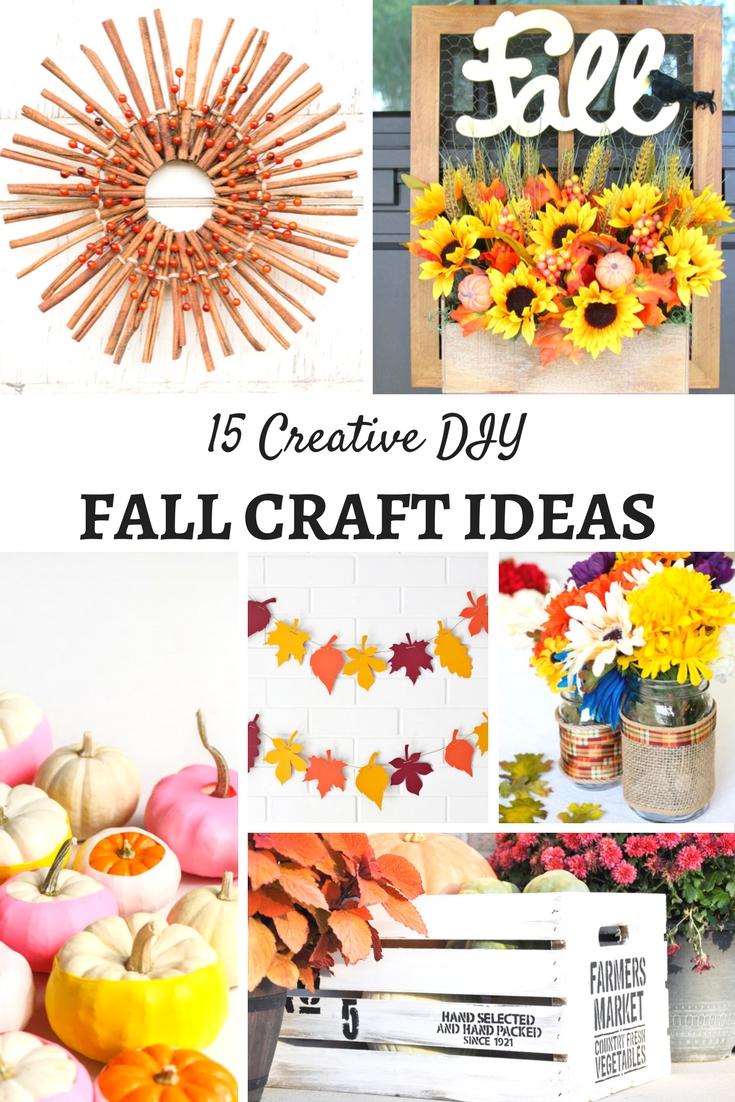 Creative DIY Fall Craft Ideas - Mum In The Madhouse