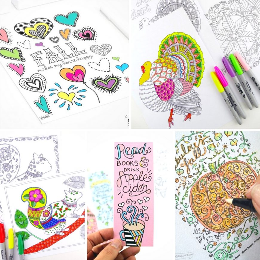 Fabulous fall colouring pages for adults from squirrels to leaves and much much more. So grab your colouring pencils and get started.