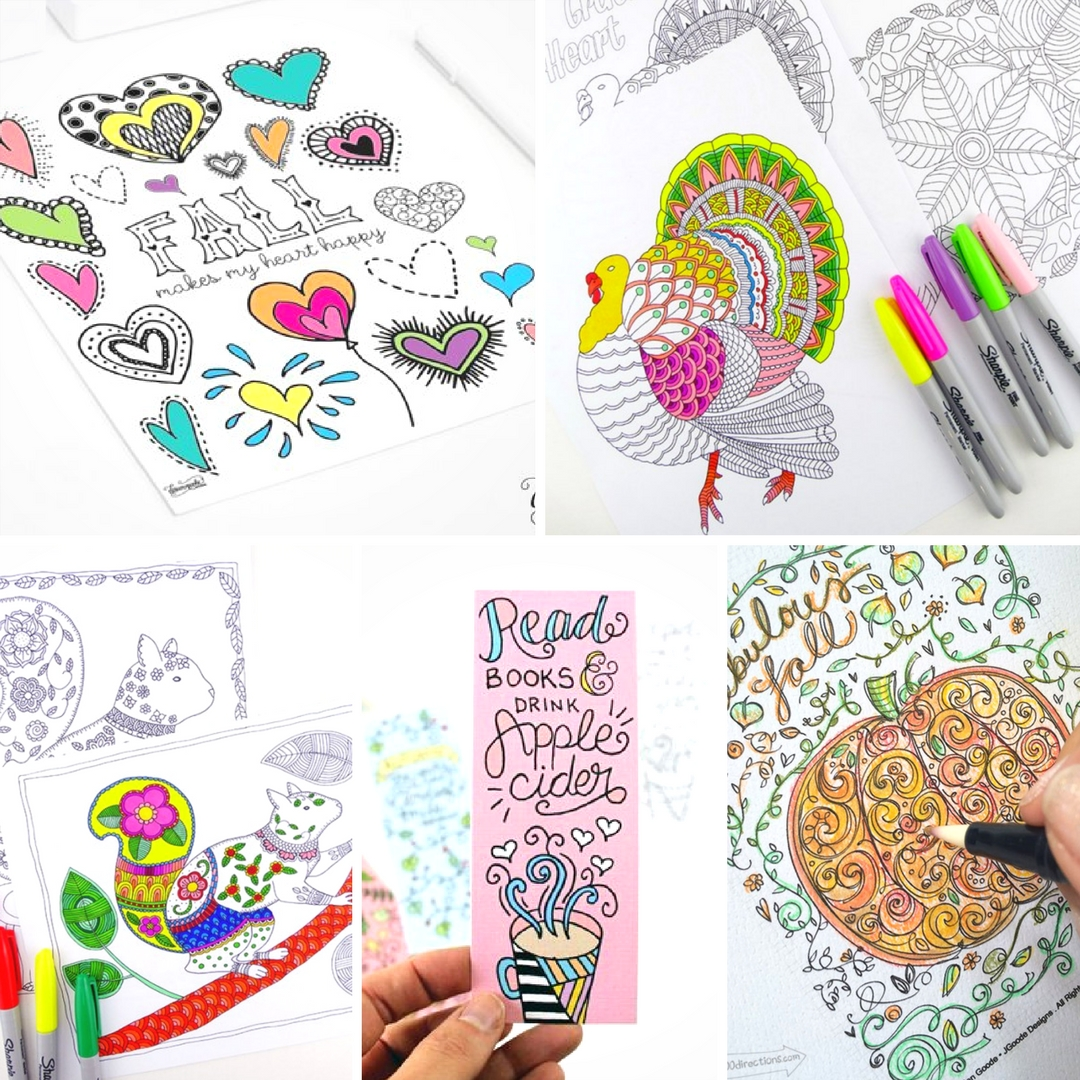 Free Printable Fall Colouring Pages for Adults - Mum In The Madhouse
