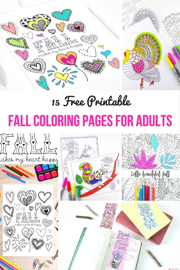 free printable fall colouring pages for adults mum in the madhouse