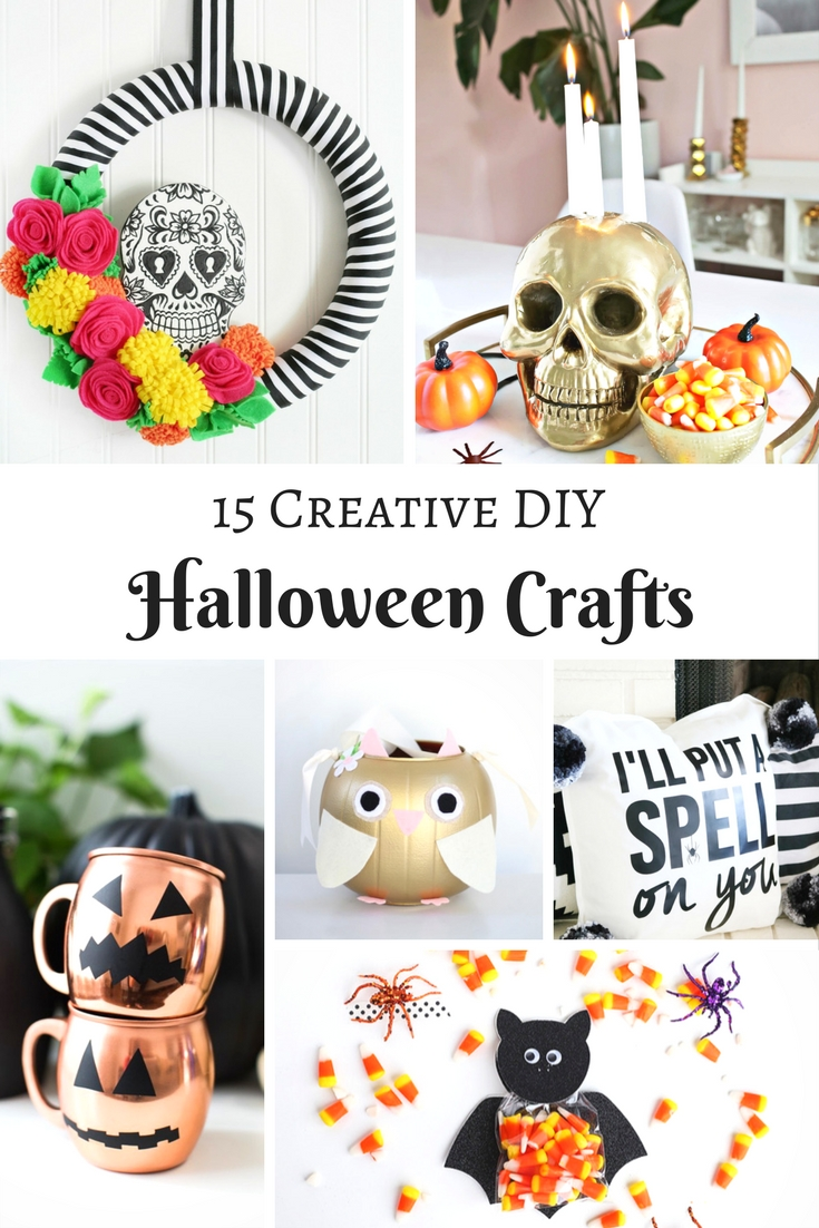 Do you love Halloween? It is a fab excuse to get you and the kids crafting and I adore these Creative DIY Halloween Crafts