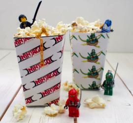LEGO Ninjago Printable Popcorn Boxes square
