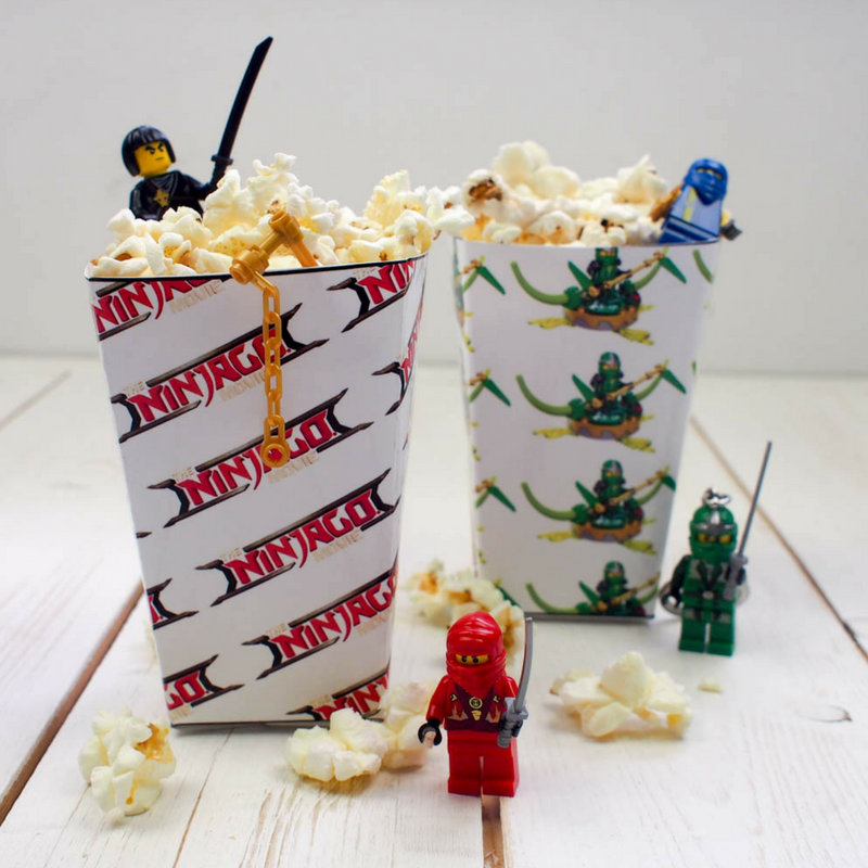 picture regarding Printable Popcorn Boxes titled LEGO Ninjago Printable Popcorn Bins - Mum Within just The Madhouse
