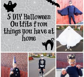 5 DIY Halloween Outfits from things you have at home