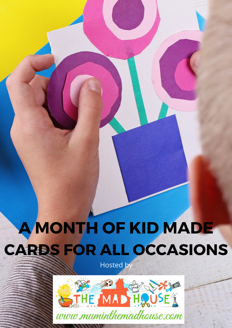 a month's worth of fantastic kid made cards for all occasions all made by children, along with full instructions for making them with your own children.