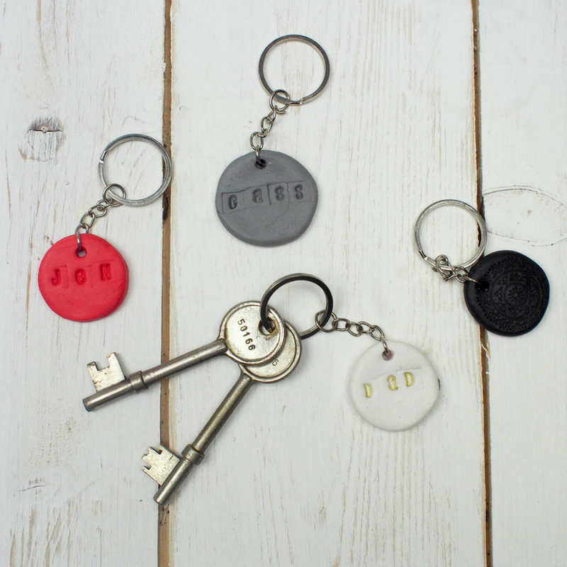 DIY Name Key Fobs with Sugru