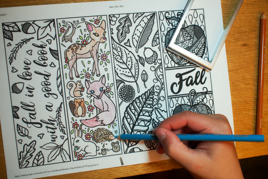 free printable autumn bookmarks to colour mum in the madhouse