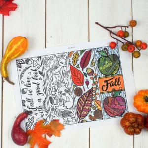 Free Printable Autumn Bookmarks to Colour square