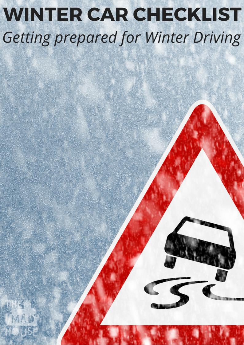 Getting prepared for Winter Driving - Winter Car Checklist
